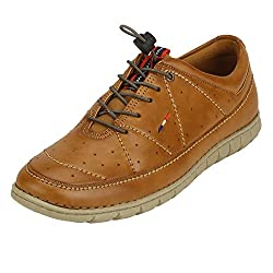 Quarks Mens Tan Synthetic Smart Casual Shoes J1126TN-7