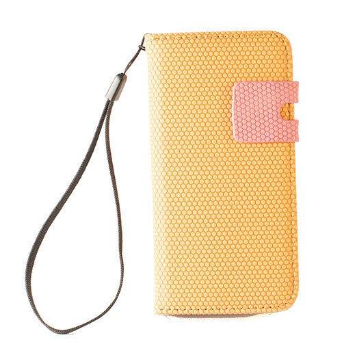 FLIP WALLET TASCHE HÜLLE PORTEMONNAIES FÜR iPHONE 5 und 5S - HANDY COVER CASE - WEIß / ROSA Orange/Rosa