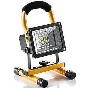 Lampada Esterno 1600 LM, Luci di Pesca Lavoro Campeggio led Ricaricabile 24 LED , Manutenzione Lampade Portatili Emergenza led con Uscita due USB Porti, Flash Function,IP65, Appendere Mettere Portatile, 360 Angolo di Rotazione