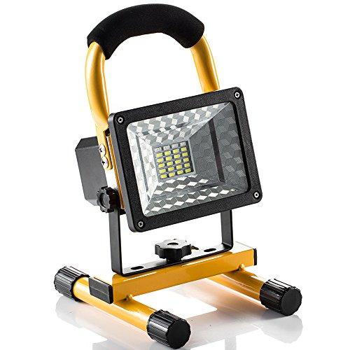 Luci di Lavoro Campeggio Pesca Esterno led Ricaricabile 24 LED 1600 LM, Manutenzione Lampade Portatili Emergenza led con Uscita due USB Porti, Flash Function,IP65, Appendere Mettere Portatile, 360 Angolo di Rotazione, per Illuminazione e All'aperto di Emergenza