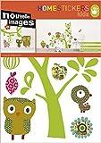 1art1 50553 Kinderwelten - Katzen, Eulen, Vögel, Virginie Graire Wand-Tatoos Aufkleber Poster-Sticker 70 x 50 cm