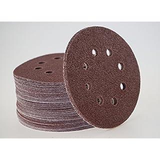 50 Blat Exzenterschleifscheiben Korn 40, Ø 125 mm – 8 Loch - Klett/Haft Schleifscheiben für Exzenterschleifer/Schleifscheiben / Exzenterschleifpapier