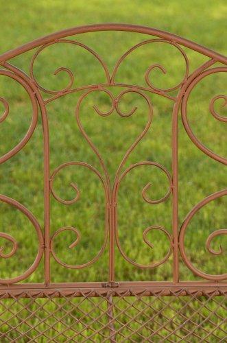 CLP Gartenbank TARA, Landhaus-Stil, Eisen lackiert, Design antik,113 x 47 cm, bis zu 5 Farben wählbar Antik Braun - 8