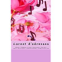 Carnet d'adresses: Adresse / Telephone / E-mail / Anniversaire / Site Web / Log in / Mot de passe / Collection Musique 4