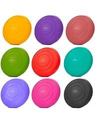 Ballsitzkissen »BlowUp« inkl. Pumpe (ca. 140kg Maximalgewicht) / luftgefeülltes Sitzballkissen, Luftkissen / Balance Kissen für Fitness-, Reha-, Koordinations-, und Rückentraining / Gleichgewichtskissen, 33 cm / In vielen Farben erhältlich