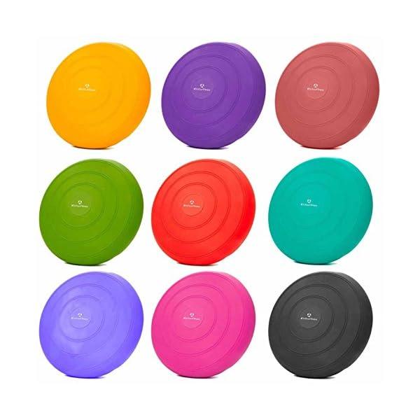 #DoYourFitness Cojin Equilibrio /»Blowup/« Bomba incluida//Disco de equilibro para Entrenamiento Ejercicios de Espalda//Cojin Wobble rehabilitaci/ón 33 cm//Peso m/áximo 140 kg//Rosa