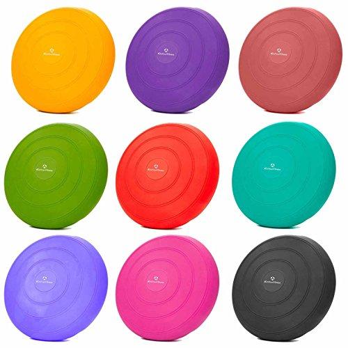 Ballsitzkissen »BlowUp« inkl. Pumpe (ca. 140kg Maximalgewicht) / luftgefeülltes Sitzballkissen, Luftkissen / Balance Kissen für Fitness-, Reha-, Koordinations-, und Rückentraining / Gleichgewichtskissen, 33 cm / schwarz