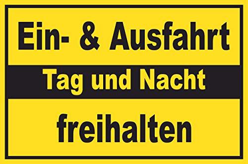 SCHILDER HIMMEL anpassbares Ausfahrt Einfahrt freihalten Schild DIN A2 59x42cm Alu-Verbund mit Schrauben, Nr 155 eigener Text/Bild verschiedene Größen/Materialien