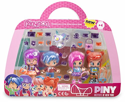 Pinypon by PINY Set of Four dolls, (Famous 700012916)
