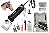 Vetrineinrete® Tosacavalli macchina tosatrice professionale per tosatura equini e bovini cavalli con lame di ricambio 120 Watt 80 MM E59