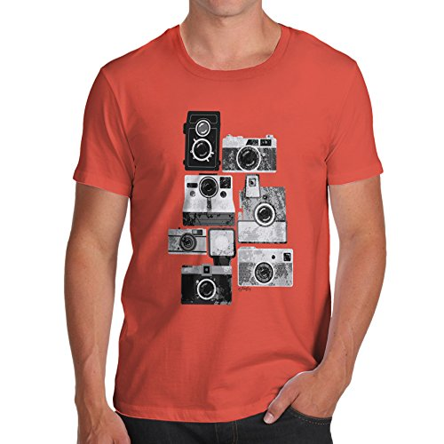 TWISTED ENVY Men's Vintage Cameras Cotton T-Shirt