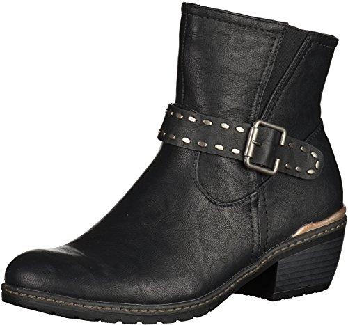 Rieker Damen Stiefel schwarz, 961131-1 schwarz