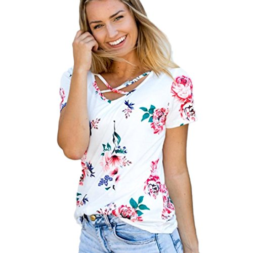 womens-blouse-xinantime-short-sleeve-flower-printed-casual-blouse-tops-l-white-bandage