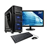 Sedatech Advanced Gaming PC Komplett-Paket Intel Pentium Gold G5400 2x 3.70GHz, Geforce GTX1050 2Gb, 8GB RAM DDR4, 240GB SSD, 1TB HDD, USB 3.0, Wlan, HDMI 2.0. Rechner & 23.6