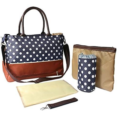 Del bebé KF Luv bolsa de pañales bolsa de palos de relación calidad precio conjunto de cinta y, con bolso Crossbody de seguro de la correa, ganchos rejilla para carrito de bebé, más