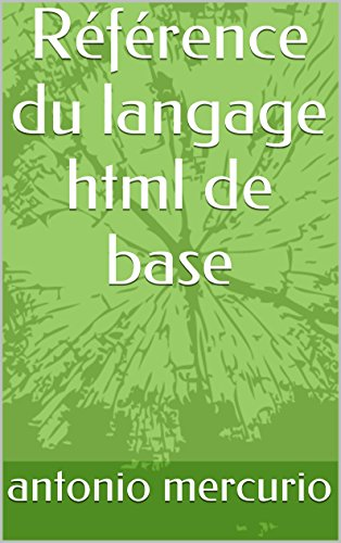 Référence du langage html de base