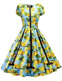 YACUN Donne Sono Vintage degli Anni  50 Hepburn Vestiti Abito da Cocktail 05212371ad4
