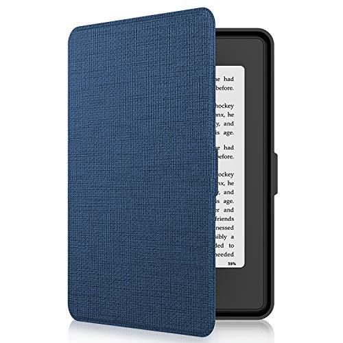 Tsing Funda Kindle Paperwhite de Cuero Sintético Cierre Magnético Ultra Delgado - compatible con de Kindle Paperwhite 1/2/3 (AZUL MARINO))