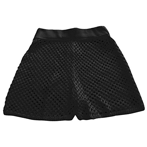 Qmber Damen Chino Shorts mit Flecht Gürtel Leichte Bermuda Kurze Hose Schlafanzughosen Streifen Elastic Beach Handgewebter durchbrochener Strick Skinni Fit/Black,L (Hunde Super-helden-kostüme Für)