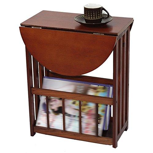 Couchtisch Kaffeetisch Esszimmertische Zeitungsständer Zeitungsständer Kleiner Schreibtisch Corner Pine Walnut 51 * 36 * 45cm Tingting (Farbe : Nussbaum) - 51 Nussbaum