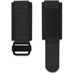 INFANTRY® Nylon Fabric Canvas Watch Strap Band Magic Velcro Fastener Drivers Black 24mm