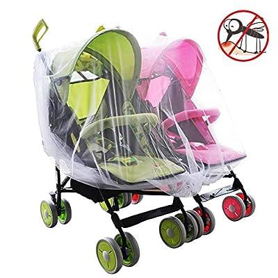 winnerruby Mosquitera para bebé V-FYee Bug Net para cochecitos, portaequipajes, Asientos de Auto, cunas Cochecito de bebé Doble Doble, elástico y Transpirable