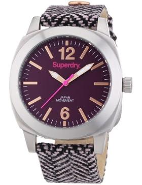 Superdry Damen-Armbanduhr Analog Quarz Textil SYL129V
