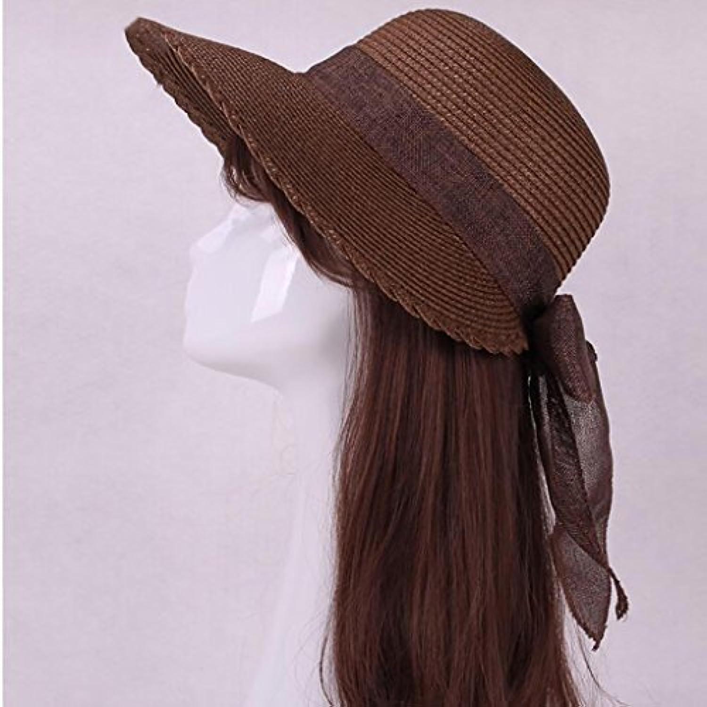Fashion capital Cappello da Sole in Paglia Cappello Parasole con Parasole a  Forma di Cappello Paglia da Sole (Coloreee C d51e04e18a6f