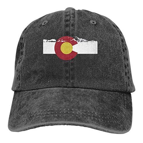 all Caps Hüte Rocky Mountain Colorado Dad Denim Hats Washed Baseball Cap Adjustable for Men Women ()