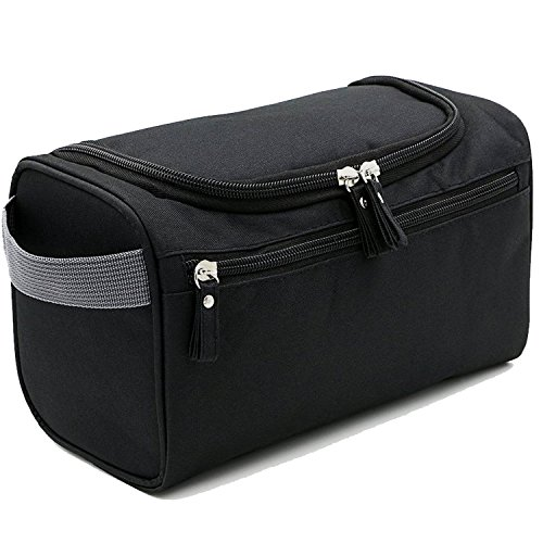 TOUBKAL - Trousse de Toilette SPACIEUSE pour Homme - QUALITE PREMIUM avec Crochet de Suspension + Compartiments - trousse toilette de Voyage Homme & Femme - FONCTIONNELLE, Solide, Simple et Efficace !