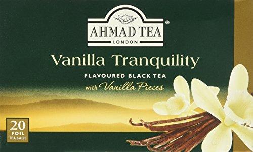 Ahmad Tea - Vanilla Tranquility   Schwarzer Tee mit Vanille-Geschmack   20 Teebeutel á 2 g mit Band