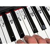 KEYNOTES 'B' Autocollant de Piano et Clavier - Stickers Apprenez Musique Jouer Éducation Clé Note - 52 Étiquettes CDEFGAB System.