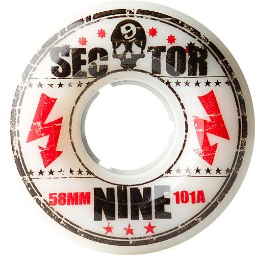 Sector 9Park Formel Skateboard Rad, weiß, 58mm 101a
