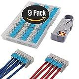 KINYOOO Verbindungsklemmen 5 Polig, PCT-415 5-Leiter-Klemme mit Betätigungshebel Leiter Klemme + 1P Wire Stripper (9 Pcs)