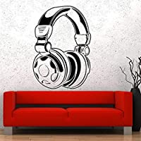 wangpdp Music Headphones Wall Decals Earphones Song Wall Sticker 42 * 59cm