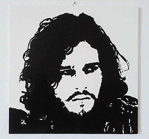 FRATTA Jon Snow Game of Thrones Game of Thrones (Kit Harington)–Modernes Bild Handgemalt–Pop Art Effect (Format 40x 40cm)