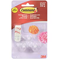 Command Party Ceiling Hooks - Clear