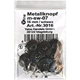 8 Metall Knöpfe schwarz 16 mm, Jeansknöpfe Metallknopf, Jeans Knöpfe, nähfrei, im Polybeutel, m-sw-07