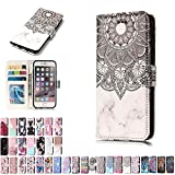 LA-Otter Coque Apple iPhone 7 8 Mandala Fleur de Henné en Marbre Flip Case Housse...