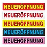 Neu-eröffnung – freie Farbwahl – 200x35cm - stabile 520g PVC Werbe-plane Werbe-banner mit Ösen – P00002-001