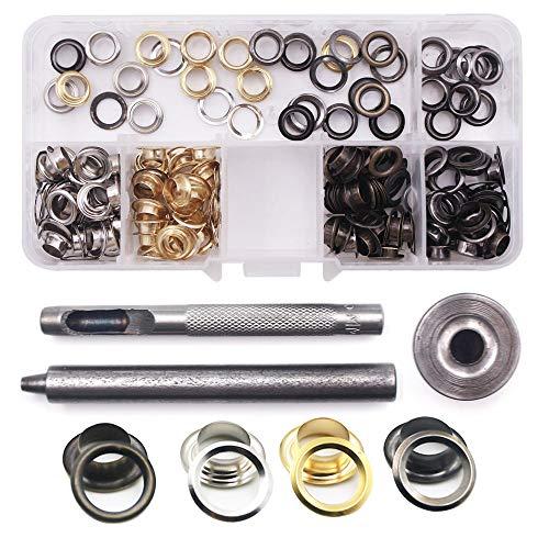 Yakamoz botones de presión Kit de anillas con 120con ojales remache costura...