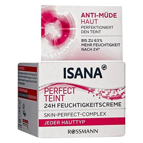 ISANA Perfect Teint 24h Feuchtigkeitscreme 50 ml für jeden Hauttyp, Skin-Perfect-Complex,...