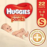 Huggies Ultra Soft Small Size Premium Diapers (22 Counts)