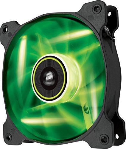 Corsair SP120 LED PC-Gehäuselüfter (120mm, Leise, Hoher Luftdurchsatz, grün LED, Single Pack) -