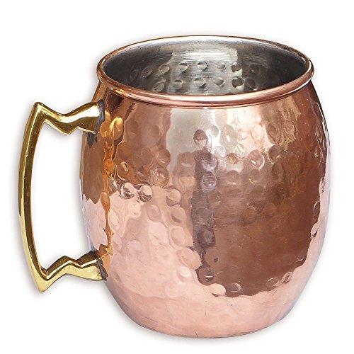Zap Impex® hechas a mano puro cobre Moscow Mule amartillado Taza con níquel revestimiento width=