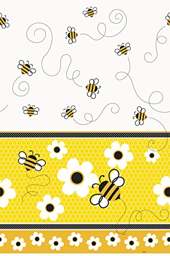 Unique Party Supplies Busy Bumble Bee Kunststoff Tischdecke, 7 ft x 4.5 ft