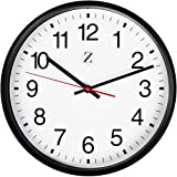 Zoyer Large Wall Clock 10 Inch Round Non-Tick Silent Decorative Wall Clock Universal