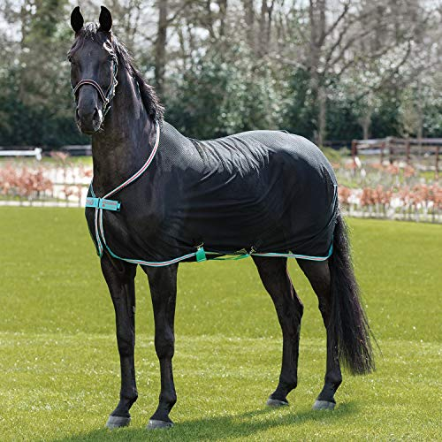 Horseware Amigo Net Cooler - Black/Teal & Dark Cherry