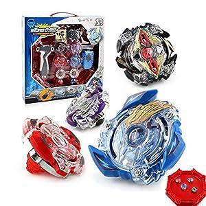OBEST NIU Conjuntos de Metal de Beyblade Spinning Fusión 4D 4 Box Gyro Lucha Maestro Cadena Launcher con Estadio Infinity Nado de OBEST NIU