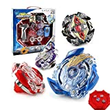 OBEST NIU Beyblade Burst 4D Set With Launcher and Arena Metal Fight Battle Fusion Classic Toys for Kid Christmas Gift